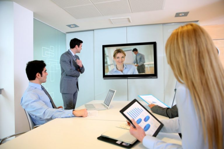 people at a video conference
